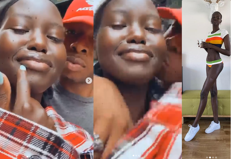 Runtown and Sudanese-Australian model, Adut Akech, 20, spark relationship rumours with loved-up videos