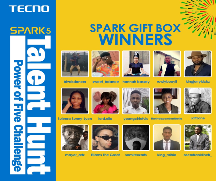 TECNO Wraps Up Spark 5 Talent Hunt, Giving Away 1 Million Naira