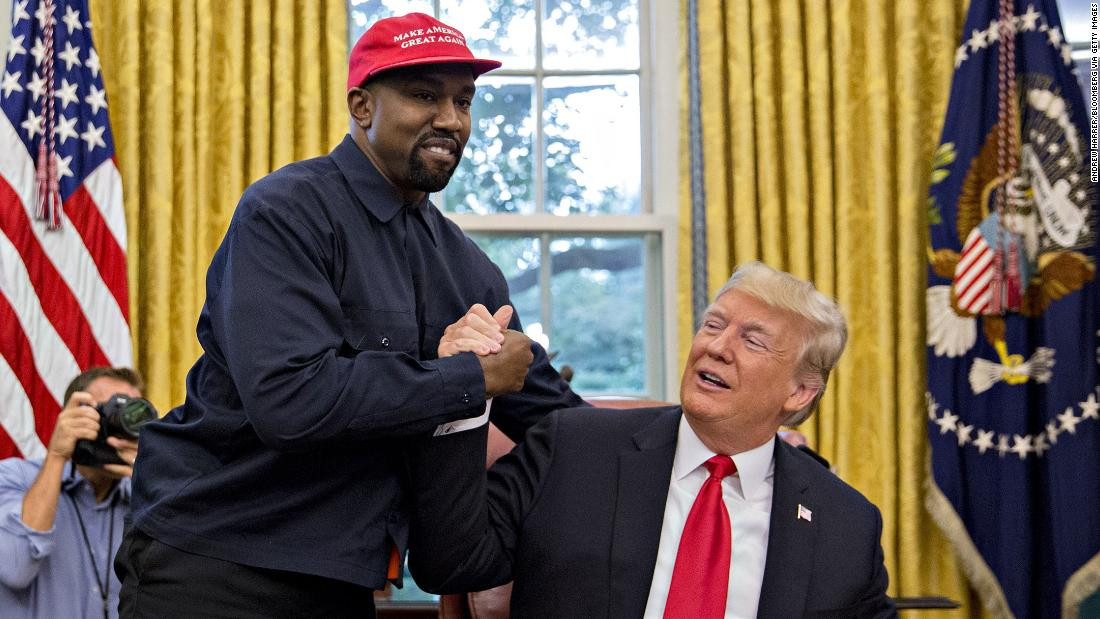 Donald Trump reacts to Kanye West