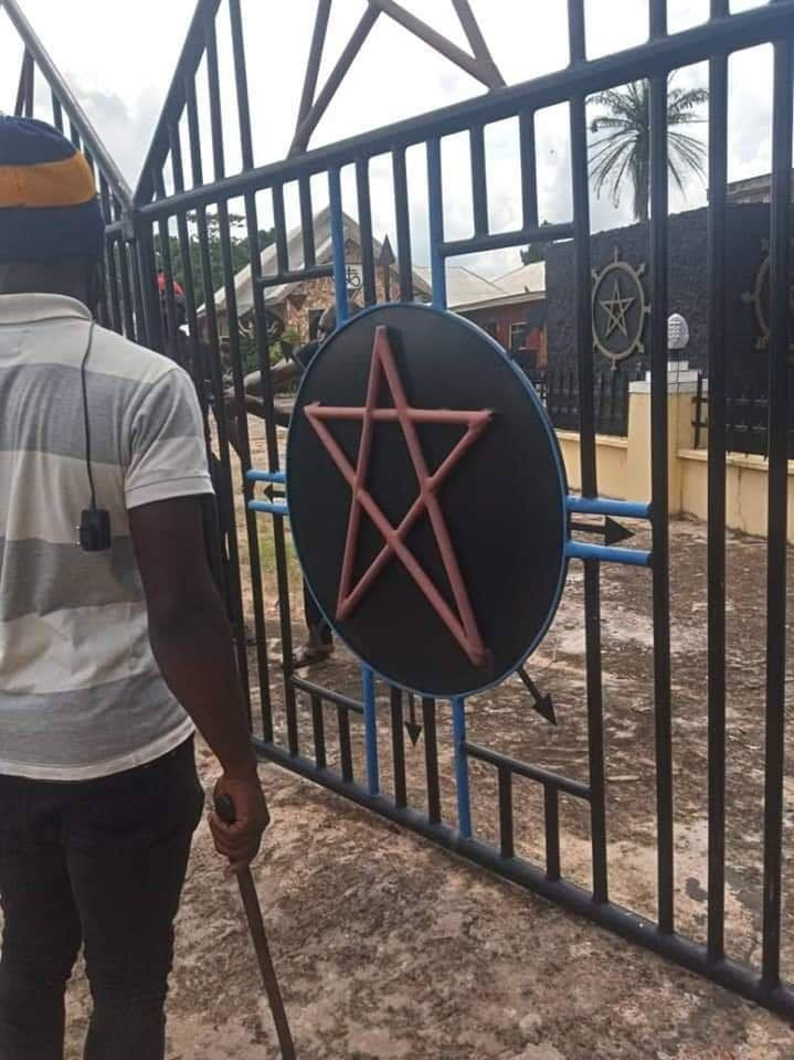 Church Of Satan demolished in Abia State, founder arrested(photos)