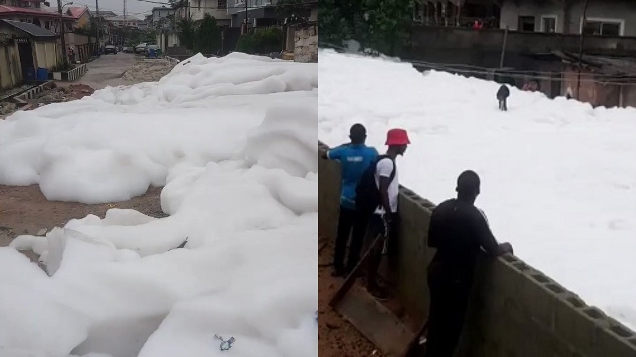 Lagos state government explains why there was a foamy substance in Anthony Village