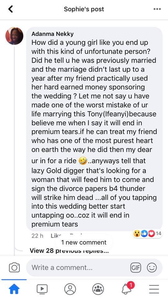 Nigerian women storm Facebook to warn a female life coach about her new husband who is allegedly married to another woman and allegedly a gold digger