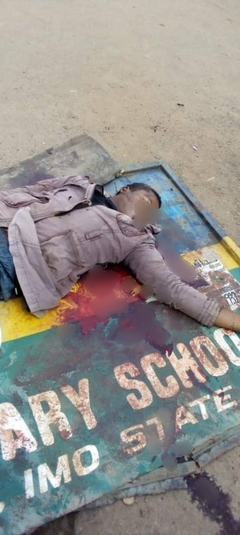 Okada rider allegedly shot dead by police officer for not wearing a face mask in Imo (graphic)