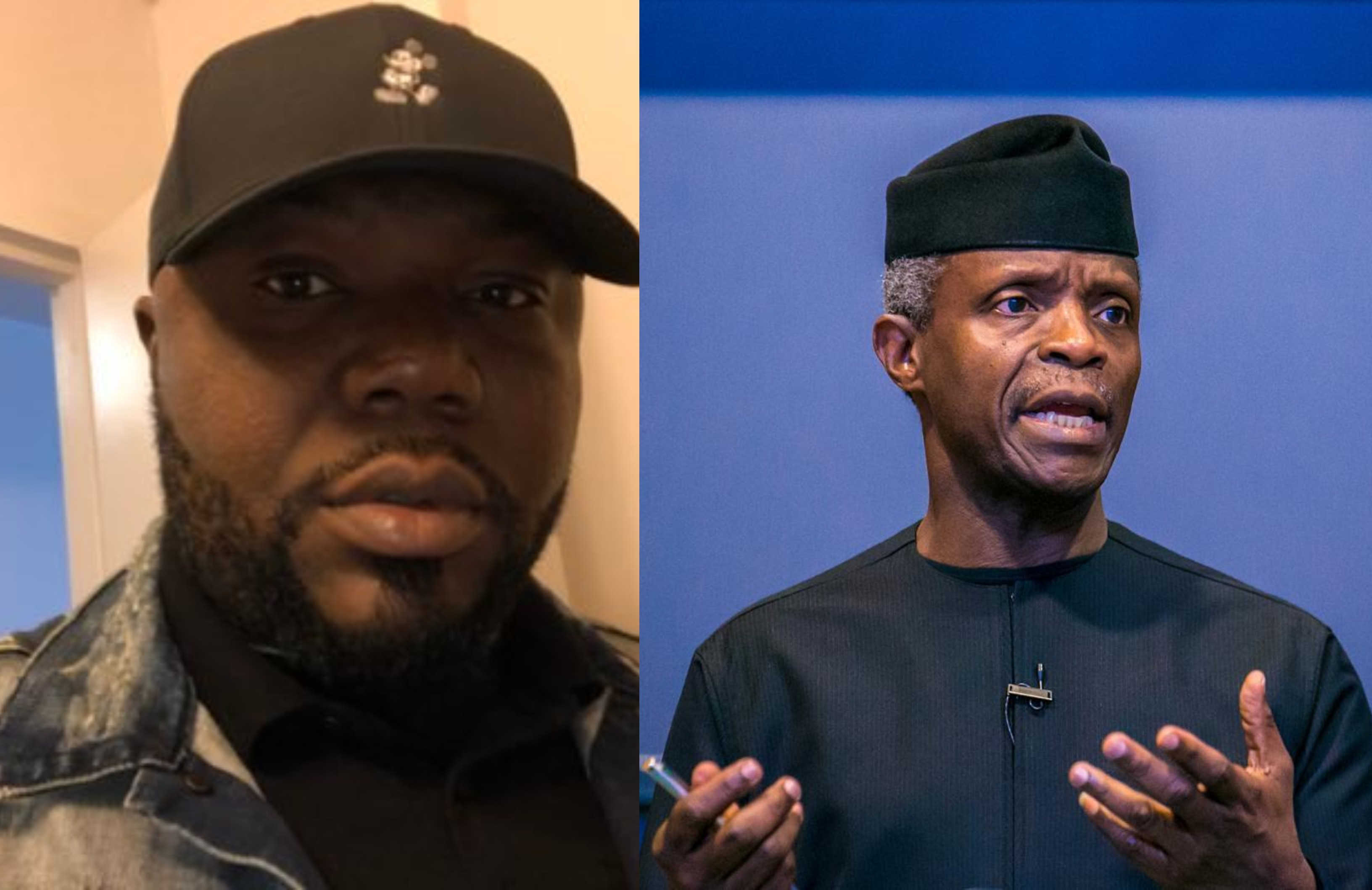 If Osinbajo wants to go to court, he needs to resign first and sue me - Jackson Ude reacts to Vice President