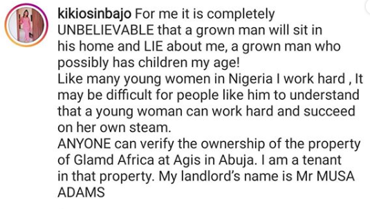 Kiki Osinbajo, daughter of VP Yemi Osinbajo, reacts to Jackson Ude
