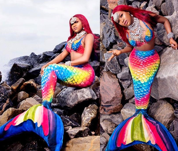 BBNaija's Thelma transforms into a mermaid to celebrate her 28th birthday