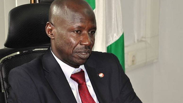 Magu probed over alleged links with Kaduna-based Bureau De Change company that has done transactions worth N336 billion, 5 million and 14 million Euros