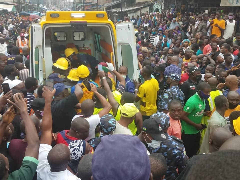 Update: Death toll from Lagos building collapse rises to three