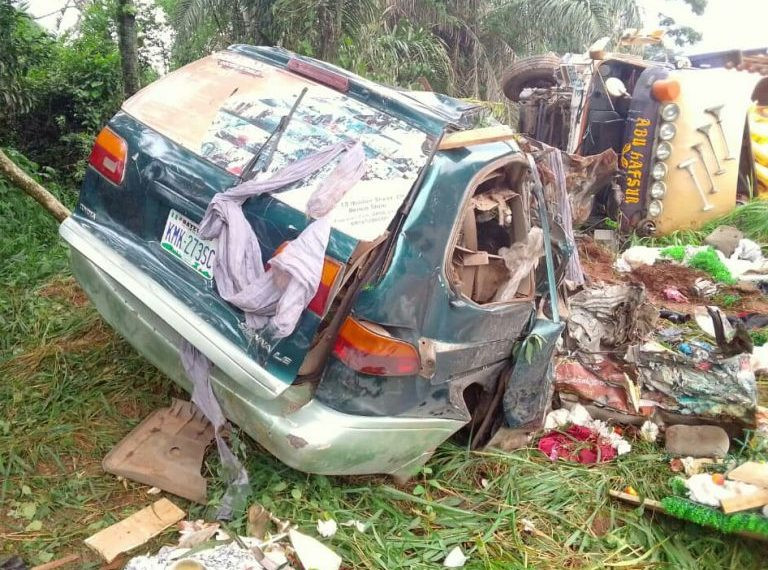 5 dead, 2 injured in Enugu road accident - FRSC