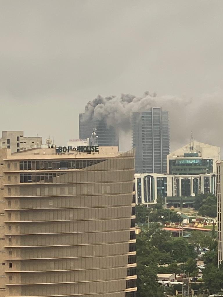 Fire outbreak at the World Trade Center Abuja (photos/video)