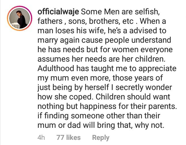 """Some men are selfish"" Waje reacts as a number of Nigerian men say they"