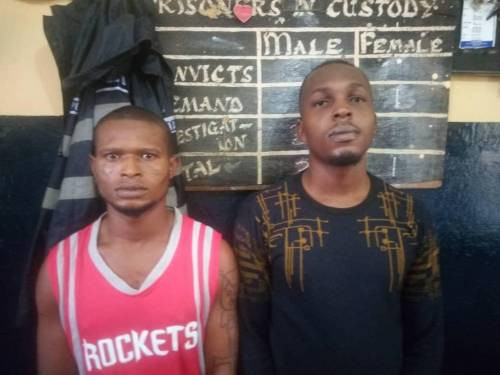 Two Nigerians arrested for allegedly kidnapping and trafficking young Nigerians to Ghana for cybercrime