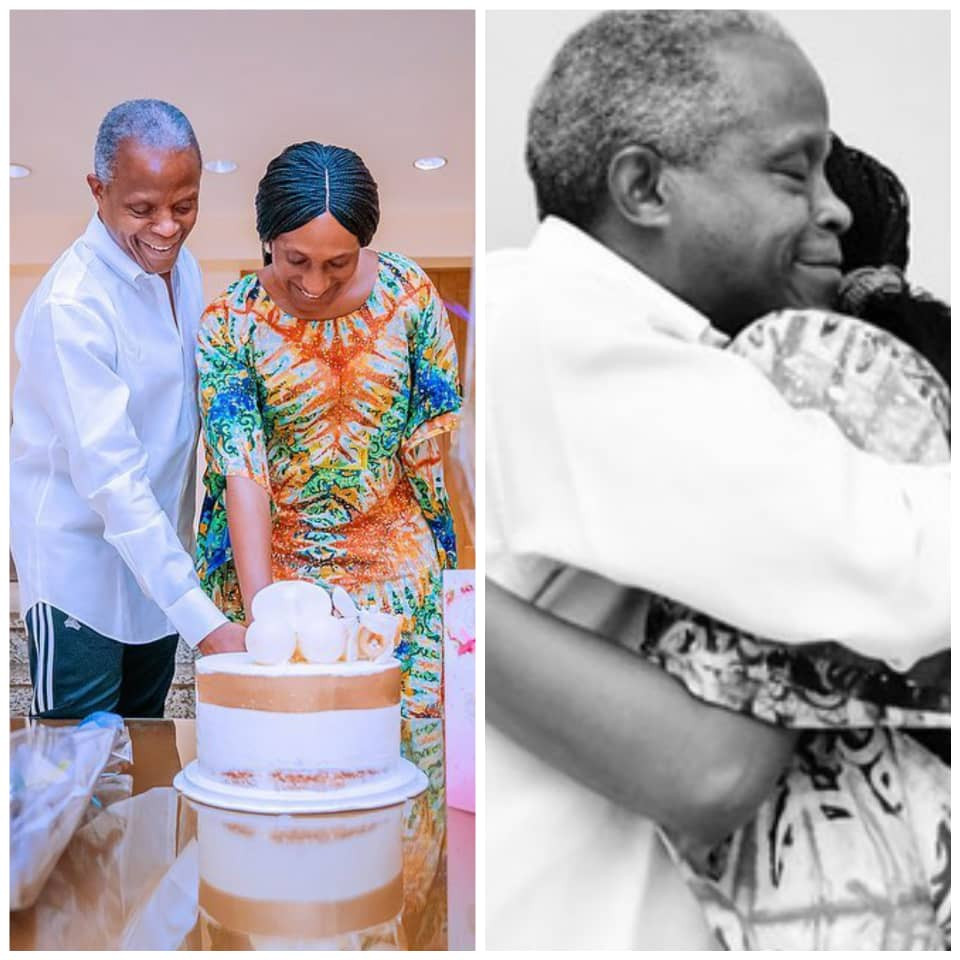 Vice President Yemi Osinbajo joins his wife, Dolapo, as she celebrates her birthday today (photos)