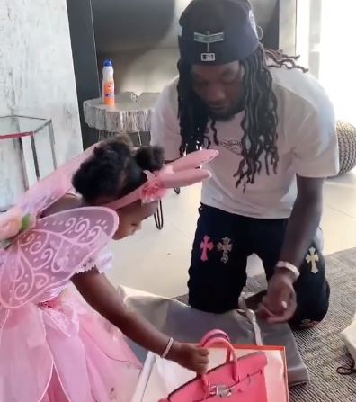 Offset Gifts His And Cardi B S Daughter Kulture A Birkin Bag For