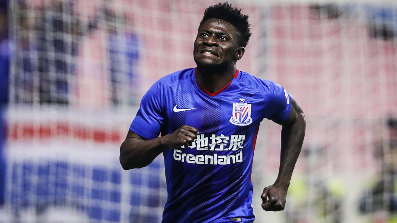 Nigerian footballer, Obafemi Martins rejoins Shanghai Shenhua after two years without a club