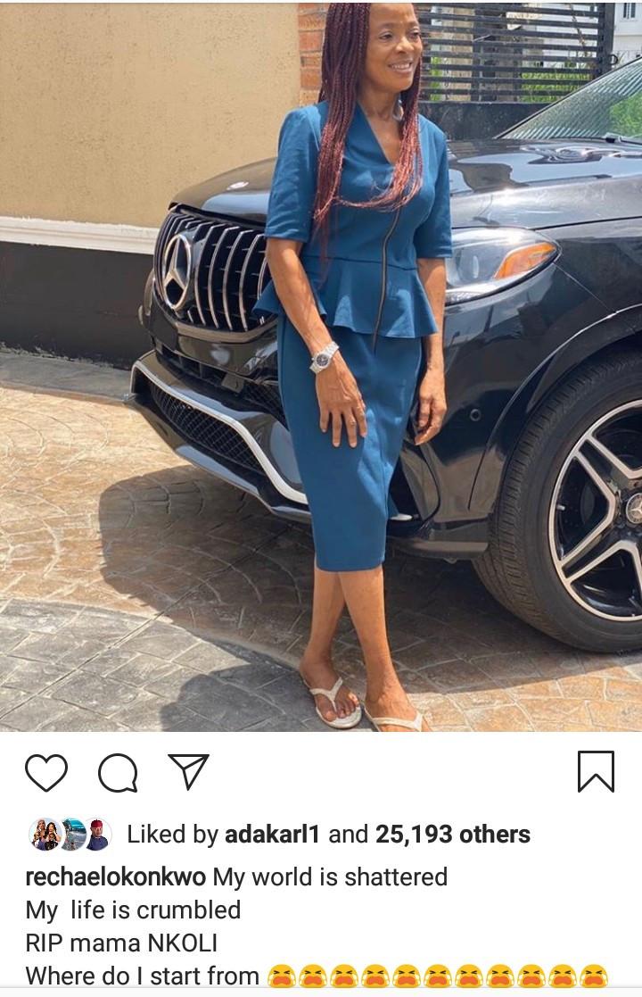 Actress Rachael Okonkwo loses mum