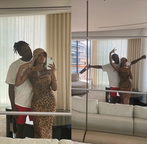 Temi Otedola and her boo Mr. Eazi all loved-up in new photos
