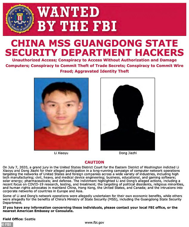 US charges two Chinese spies for a global hacking campaign that targeted COVID-19 vaccine research