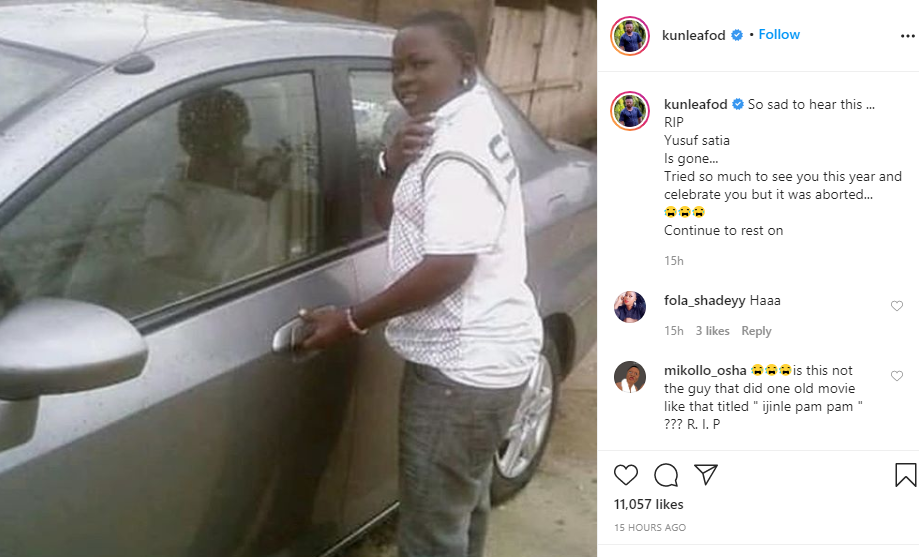 Yoruba actor, Yusuf Satia is dead