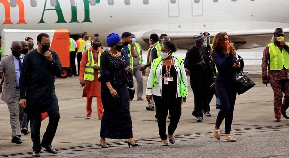 Ibom Air Lands Calabar in Historic Maiden Flight