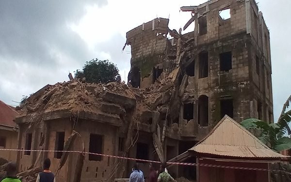 Three- storey building collapses in Ebonyi