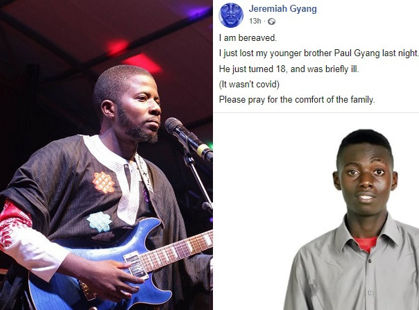 Singer?Jeremiah Gyang loses his younger brother?