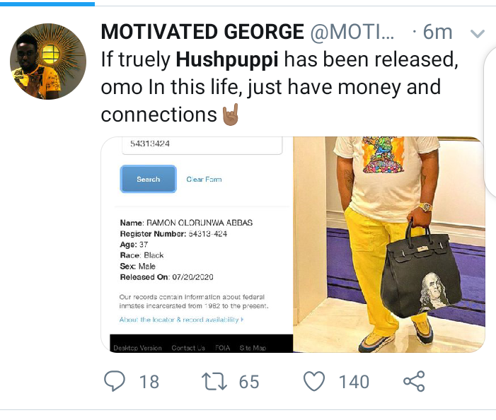 Nigerians react to reports Hushpuppi has been released from prison
