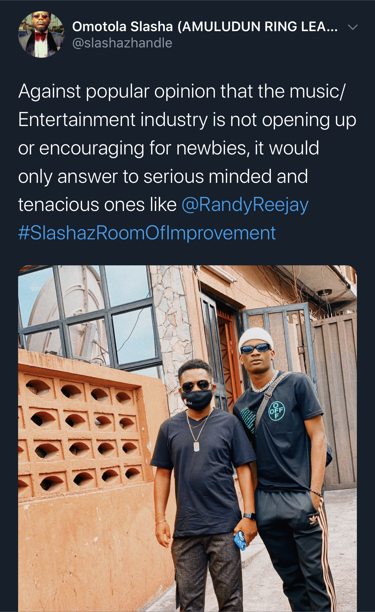 The industry would open up for the likes of Reejay says Pr Enthusiast Slasha