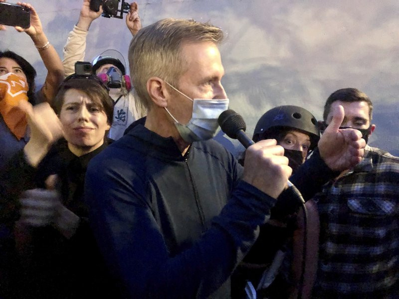 Portland Mayor tear-gassed by federal agents at protests