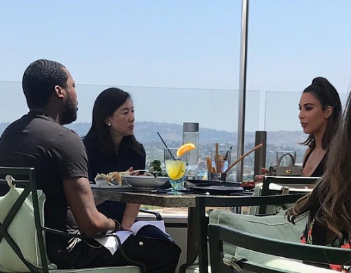 Photo of Kim Kardashian meeting with Meek Mill at a hotel emerges after Kanye West says he