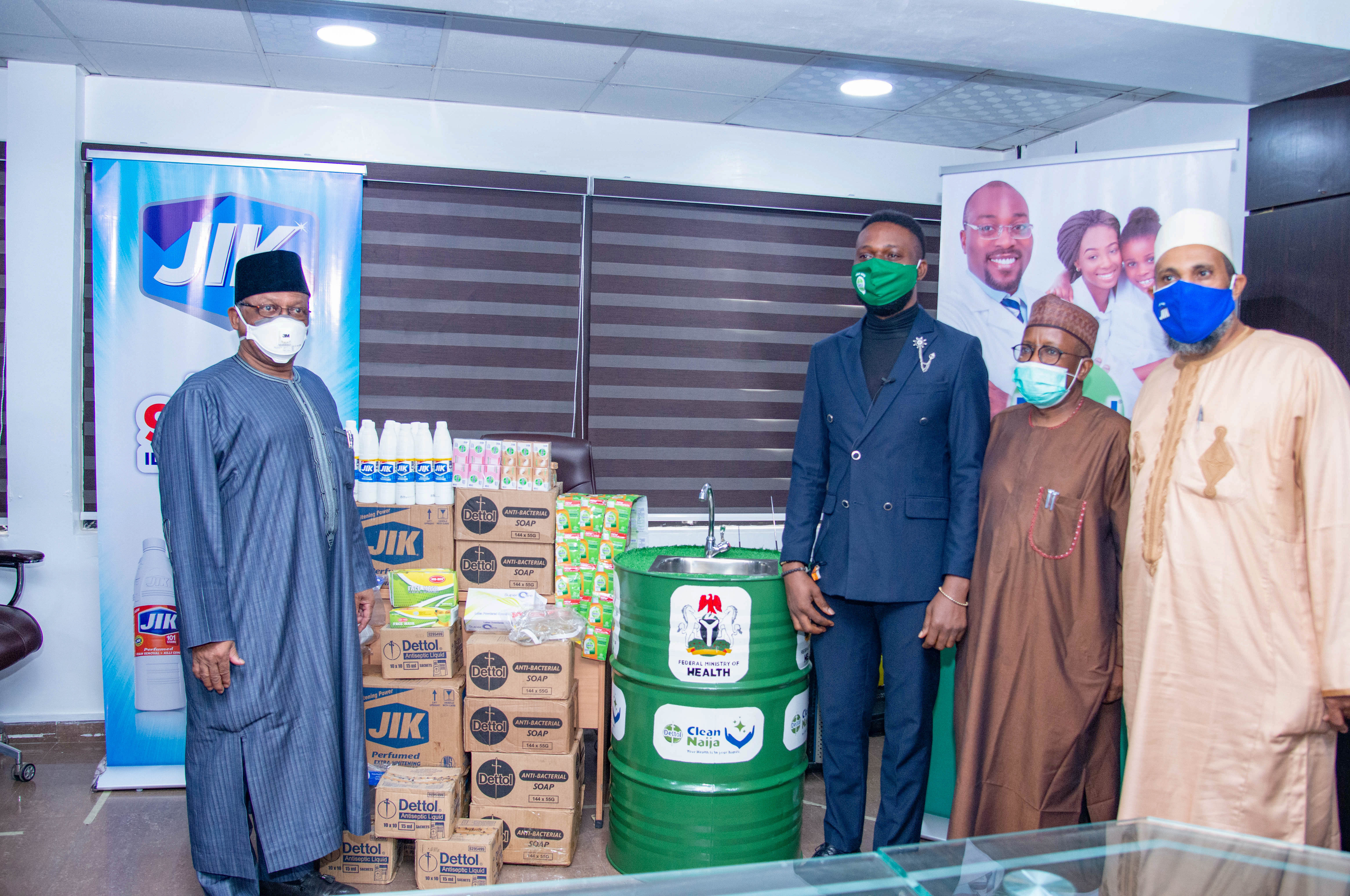 Dettol and Jik Donate to the Federal Ministry of Health