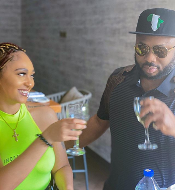 Olakunle Churchill shares photo of himself and actress Rosy Meurer as he writes on the importance of loyalty
