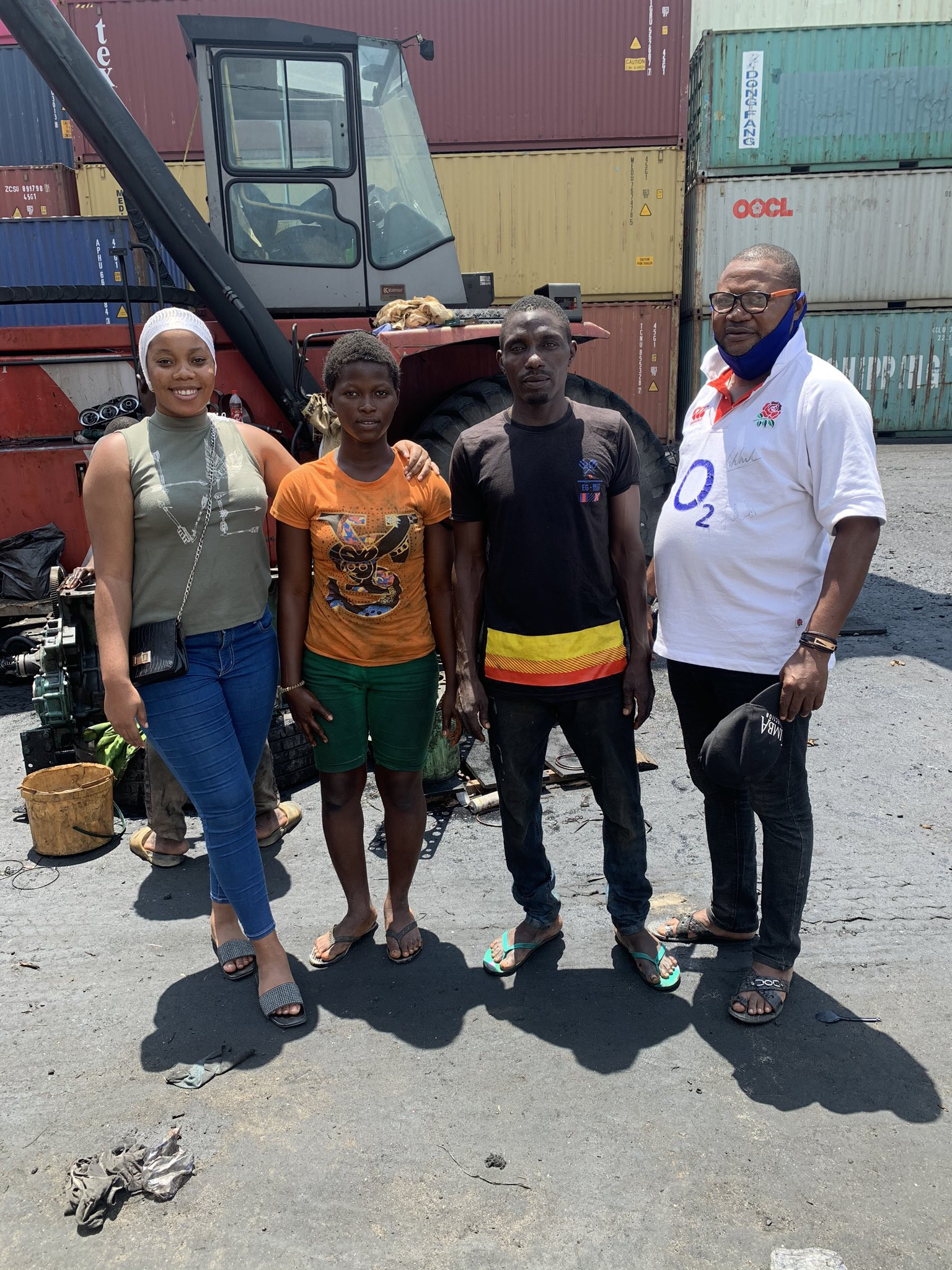 Minister of Youths and Sports offers 17-year-old girl scholarship after a video of her repairing a forklift in Lagos went viral