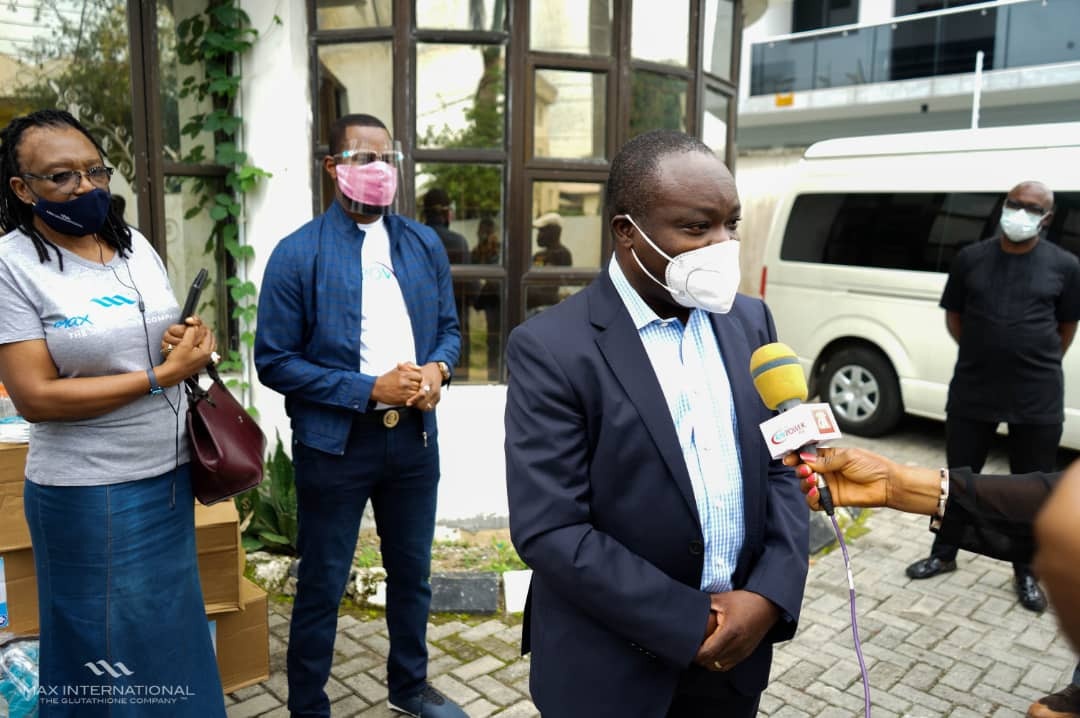 MAX International Donates Covid 19 Support Items to Lagos State Government (photos)