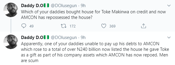 Toke Makinwa denies reports her Ikoyi home has been taken over by AMCON