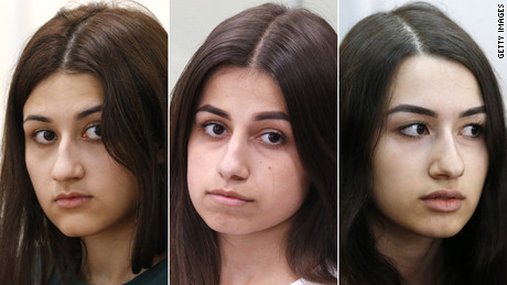 Three teen sisters who murdered their father after years of alleged sexual, physical and emotional abuse, are accused of lying by family members