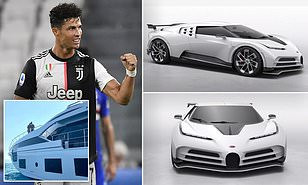 Cristiano Ronaldo splashes ?8.5m on The Bugatti Centodieci to become one of 10 owners of the rare supercar after buying a luxury yacht for ?5.5m (photos)