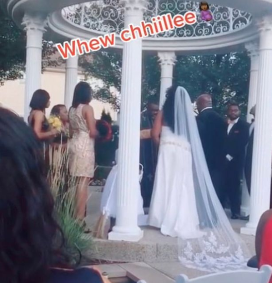Woman crashes wedding claiming to be pregnant with groom