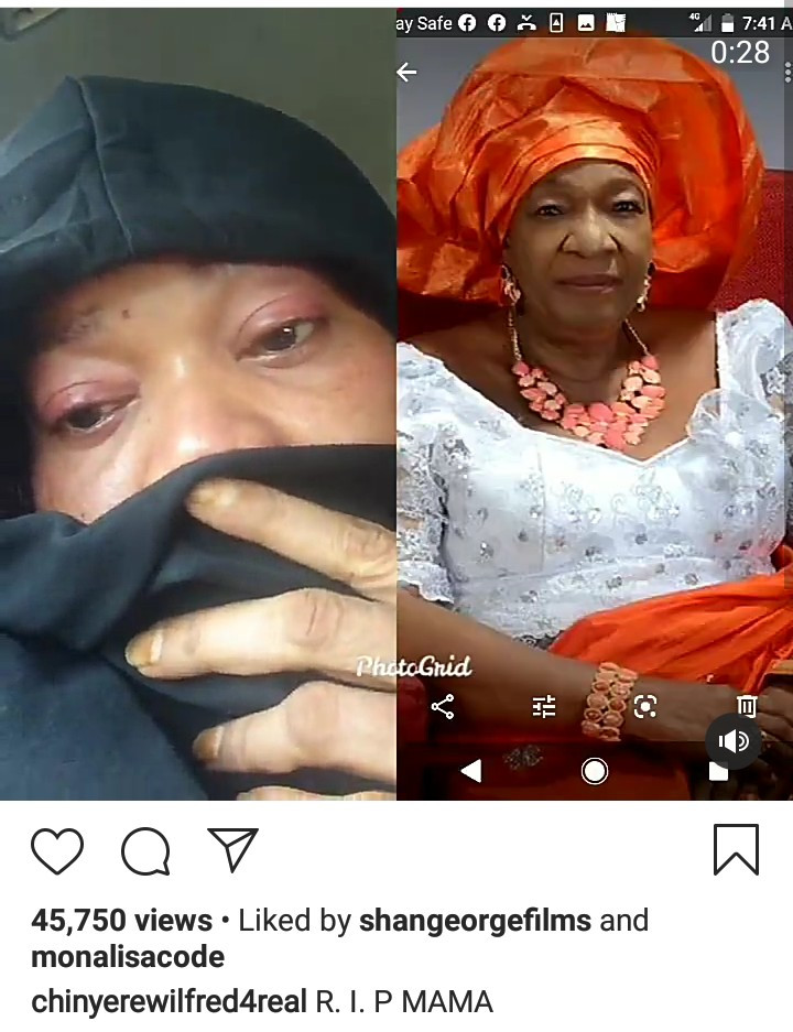 Actress Chinyere Wilfred loses mum