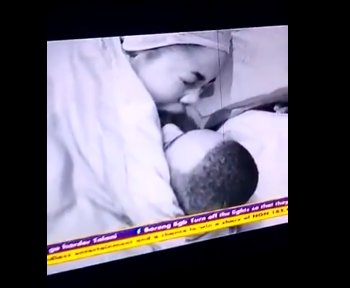#BBNaija: Erica accidentally exposes her bare behind and moans as she enjoys intense ?under the sheet? action with Kiddwaya (videos)