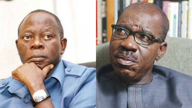Obaseki is not a threat because he is not even eligible to contest elections - Oshiomhole