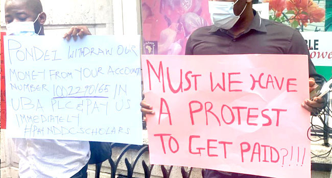 Students On NDDC Scholarship stage protest