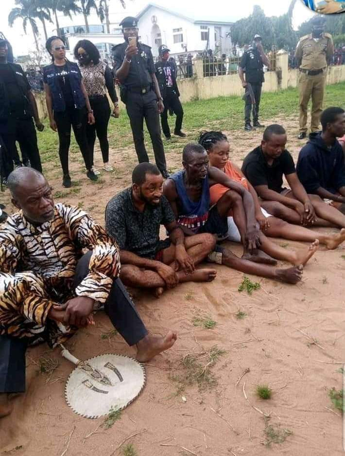 King, his cousin, a pastor and others arrested for kidnapping in Imo state (photos)