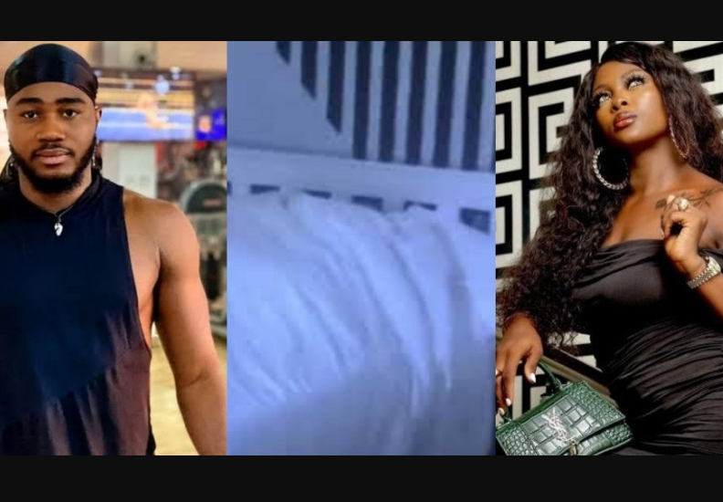 """#BBNaija: ?Praise and I didn?t have sex, we were aggressively cuddling"""" - Ka3na reveals what went down under the sheets (video)"""