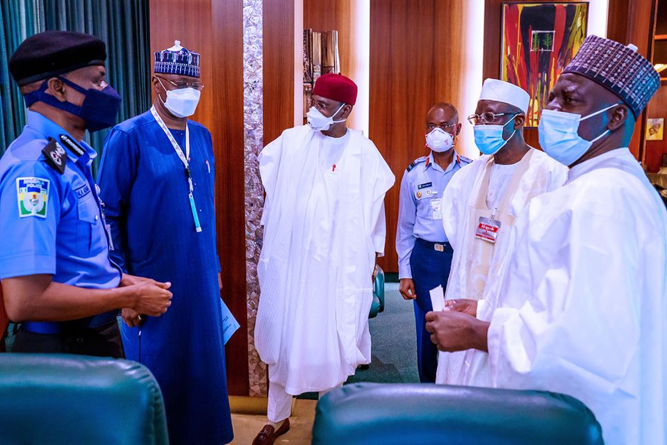 President Buhari presides over Security Council meeting (photos)