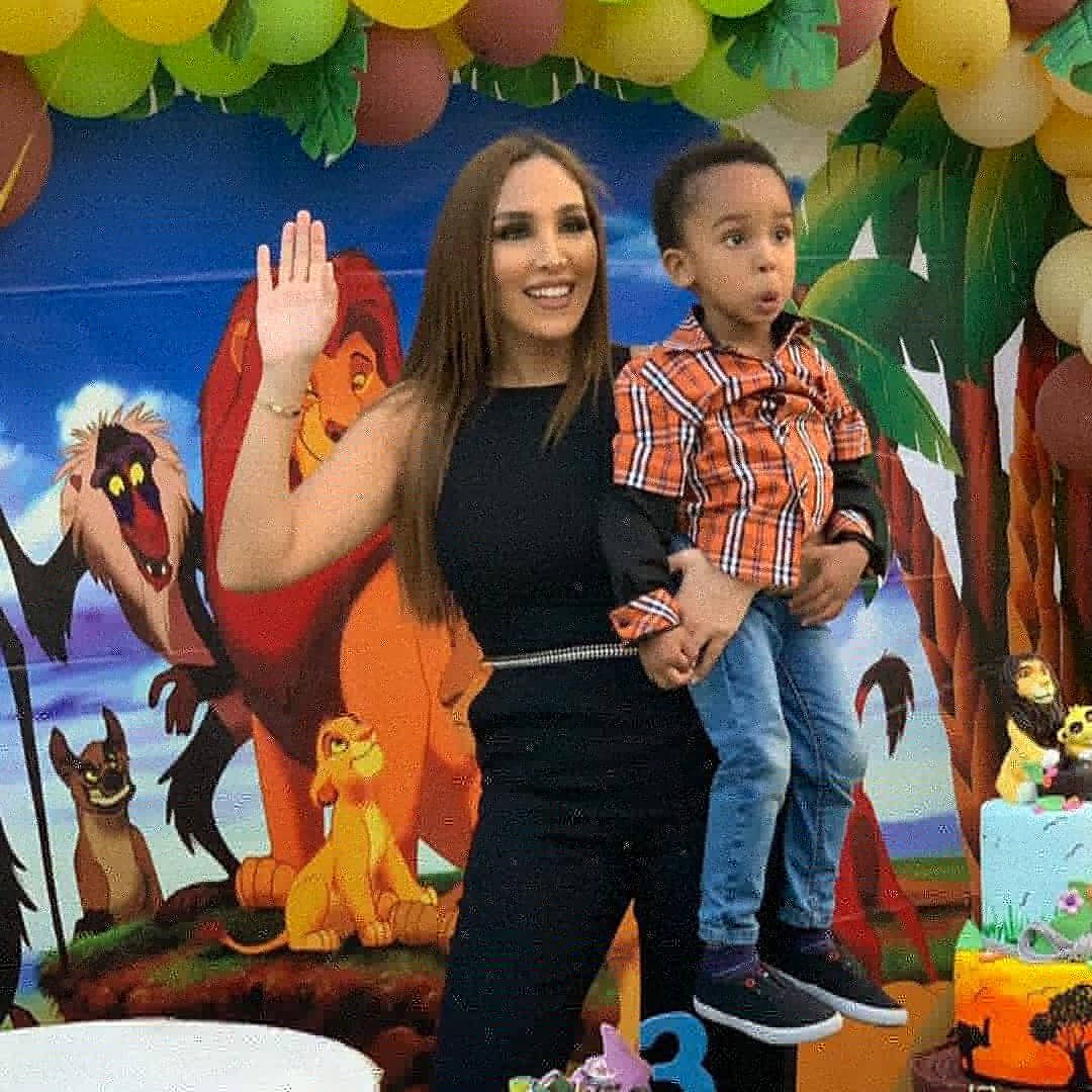 Billionaire businessman Ned Nwoko and his Moroccan wife celebrate their son on his third birthday (photos/video)
