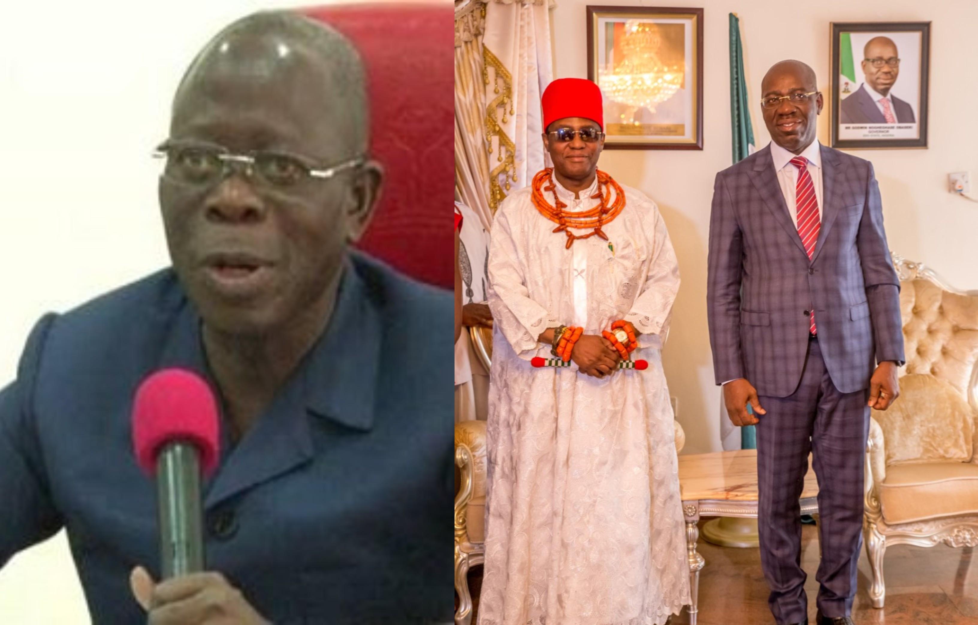 Obaseki disrespects Oba of Benin - Oshiomhole