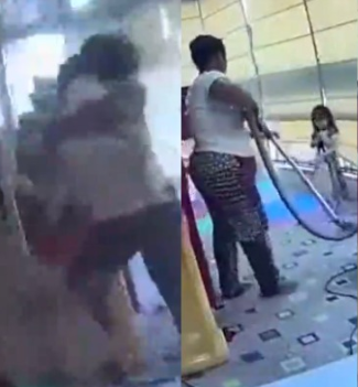 CCTV captures moment a nanny rescued her boss