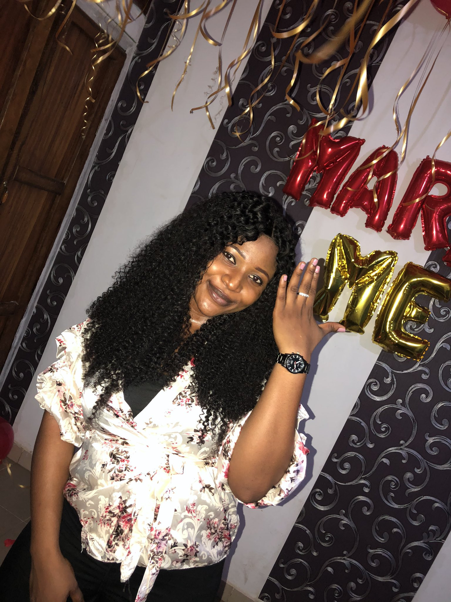 Nigerian couple are engaged after meeting on Twitter 2 years ago