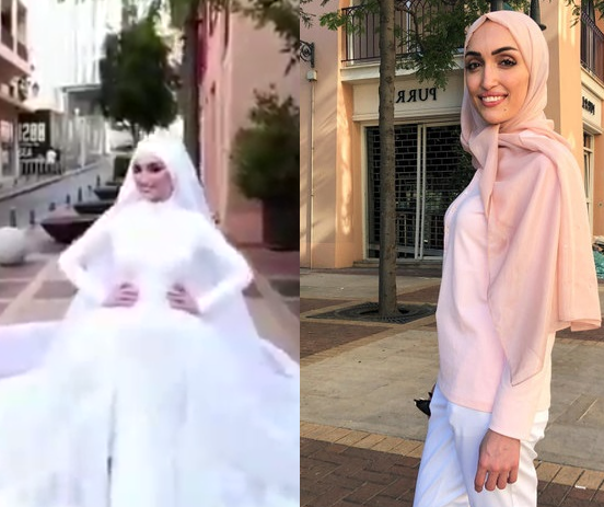 Lebanese bride reveals her ordeal?after she was rocked by massive explosion while posing for photographs on her wedding day
